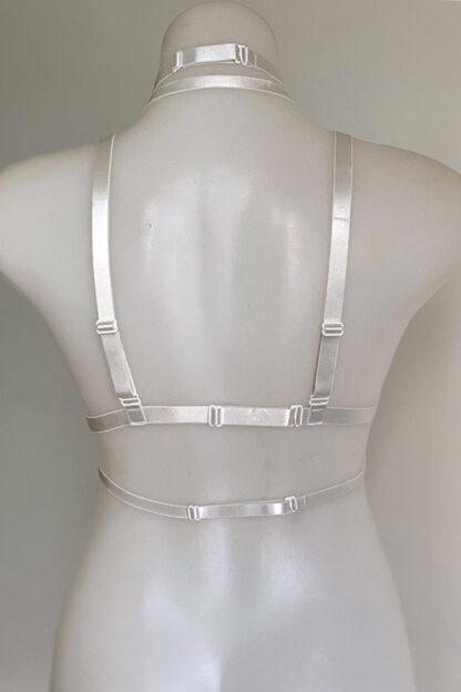 Triple o ring elastic harness White Back