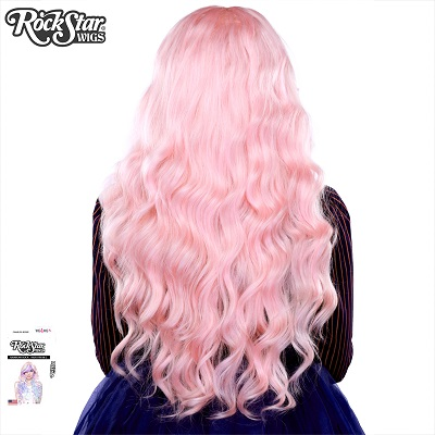 Classic Wavy Pink Blonde Mix Back