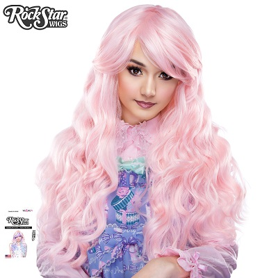 Classic Wavy Pink Blonde Mix Front 2