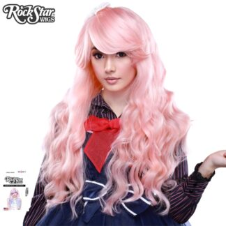 Classic Wavy Pink Blonde Mix Front