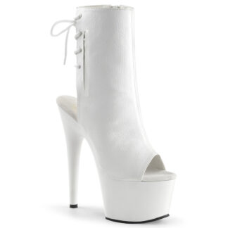 "Pleaser 7"" Adore 1018 Ankle Boot Matte White"