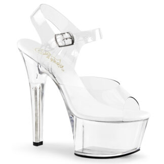 "Pleaser 6"" Aspire 608 Sandal Clear Shoes"