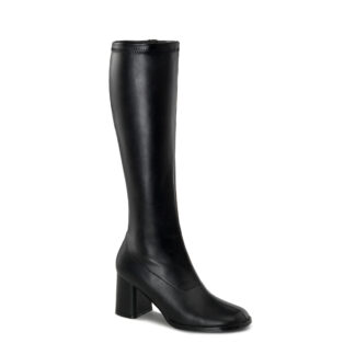 Funtasma 3″ Gogo Knee High Boots Matte Black