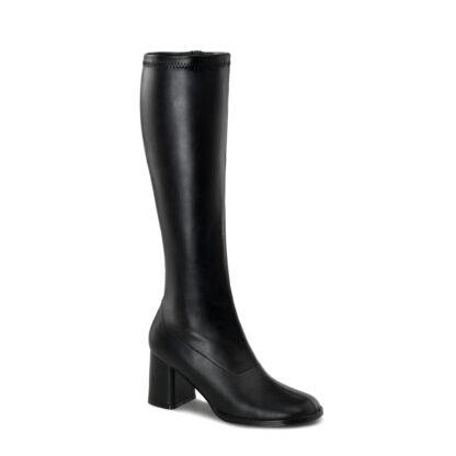 Funtasma 3″ Gogo Knee High Boots Matte Black