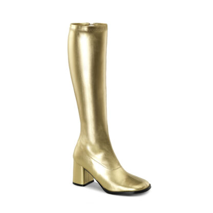 Funtasma 3″ Gogo Knee High Boots Gold