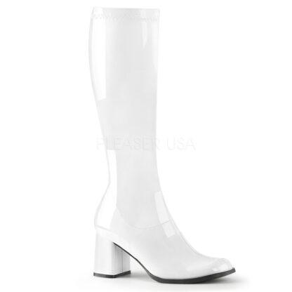 Funtasma 3″ Gogo Knee High Boots Patent White