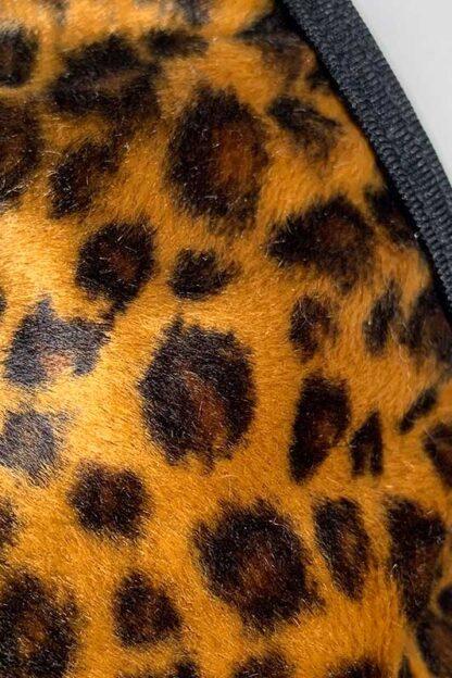 Siren Doll Micro Cup Bikini Set - Faux Fur Leopard Close