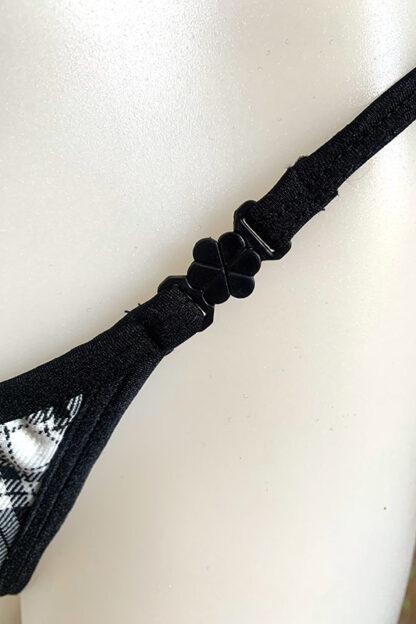 Siren Doll Micro Cup Bikini Set - Tartan Black Clip