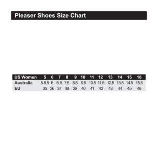 Pleaser Shoes Size Chart