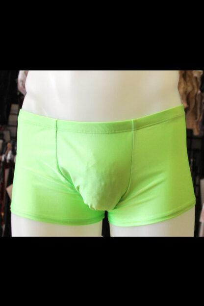 Siren Doll Men's Spandex Shorts - Neon Green Front