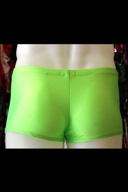 Siren Doll Men's Spandex Shorts - Neon Green Back