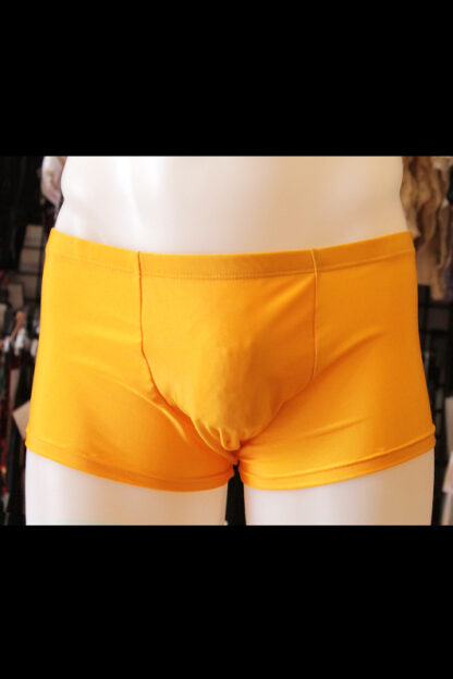 Siren Doll Men's Spandex Shorts - Yellow Backn's Shorts - Yellow Front