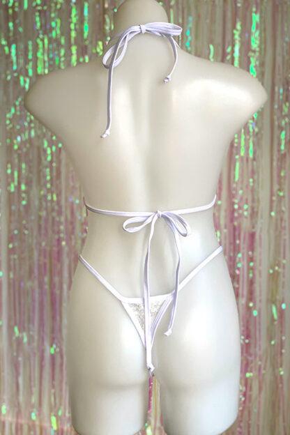 Siren Doll Small Cup Bikini Set - Lace White Back