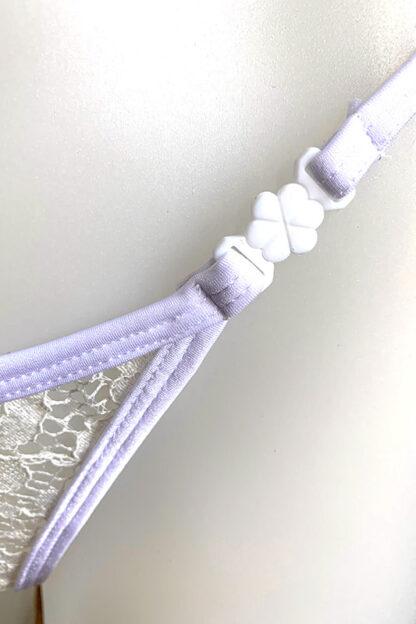Siren Doll Small Cup Bikini Set - Lace White Clip