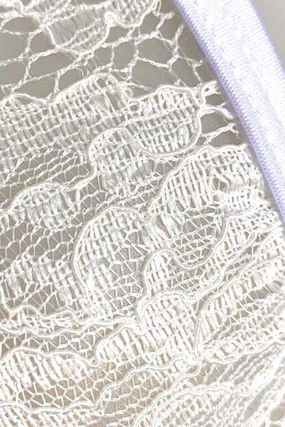 Siren Doll Small Cup Bikini Set - Lace White Close