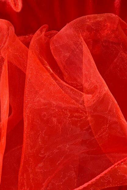 Tutu with Frills Skirt - Red Close